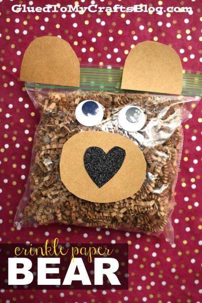 Crinkle Paper Bear - Kid Craft Idea