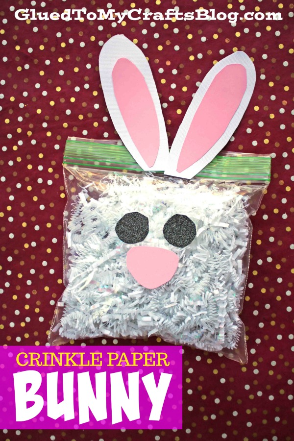 Crinkle Paper Bunny Toddler Craft Glued To My Crafts