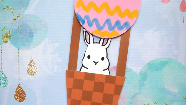 Easter Egg Hot Air Balloon - Kid Craft