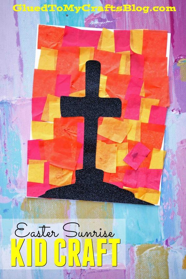 Paper Easter Sunrise and Cross - Kid Craft Idea