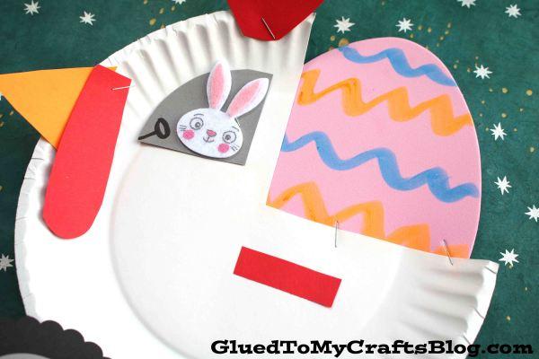 Paper Plate Hen Monster Truck - Kid Craft