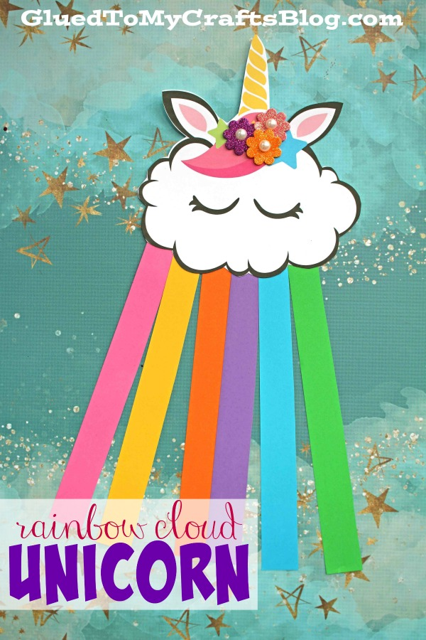 Paper Rainbow Cloud Unicorn - Kid Craft