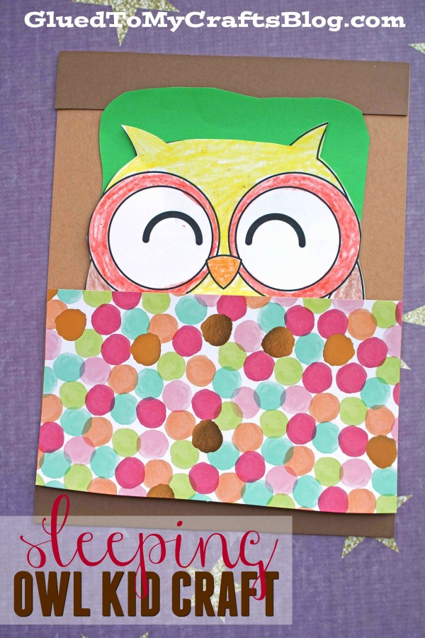 Paper Sleeping Owl - Kid Craft