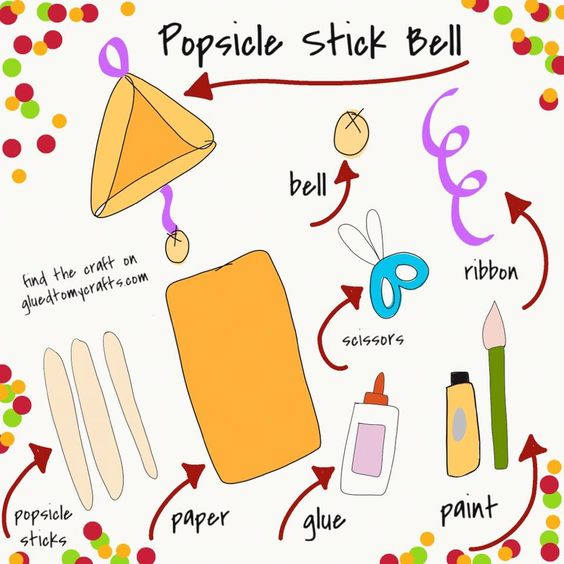 Popsicle Stick Bell - Kid Craft