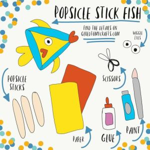 Popsicle Stick Fish - Kid Craft Idea