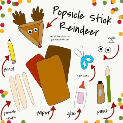 Popsicle Stick Reindeer - Kid Craft