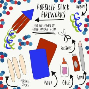 Popsicle Stick Firework Sparklers - Kid Craft