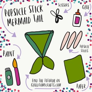 Popsicle Stick Mermaid Tail - Kid Craft Idea