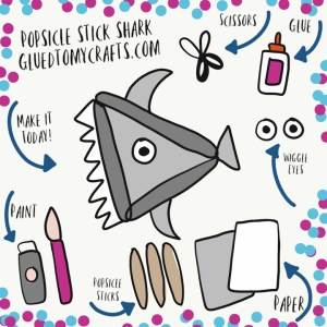 Popsicle Stick Shark - Kid Craft