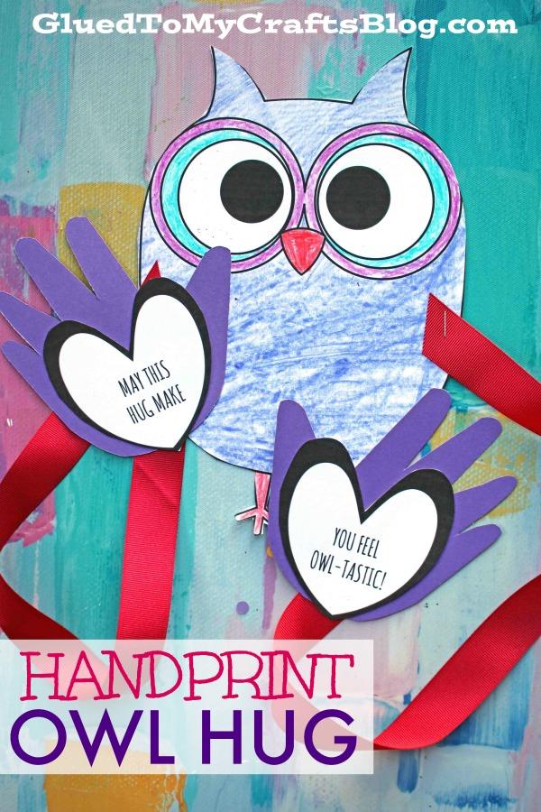 Paper Handprint Owl Hug - Kid Craft