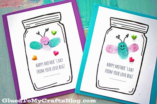 Mother S Day Love Bug Cards Kid Craft Glued To My Crafts