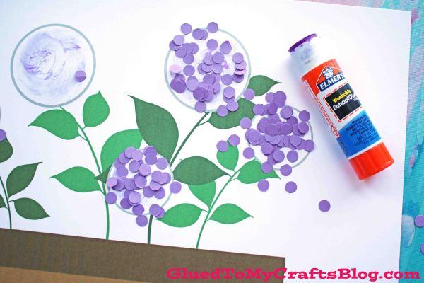 Paper Confetti Hydrangea Flowerpot - Kid Craft