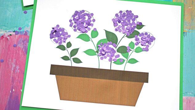 Paper Confetti Mums Flowerpot - Kid Craft