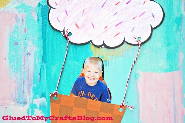 Paper Cupcake Hot Air Balloon - Kid Craft