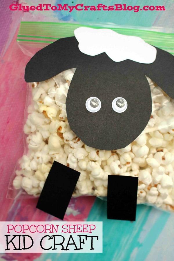 Creative Popcorn Lamb - Kid Craft