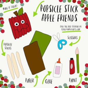 Popsicle Stick Apple Friend - Kid Craft