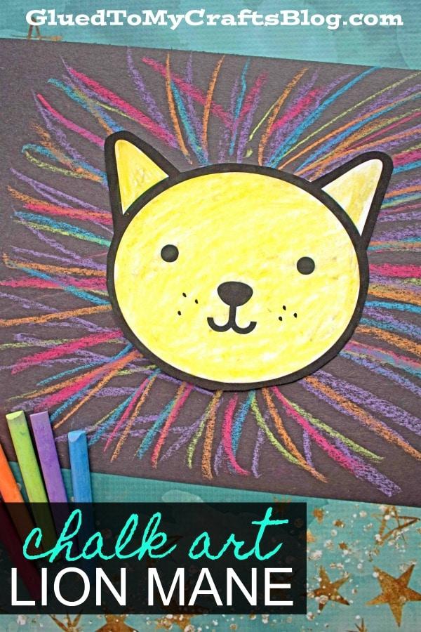 Colorful Chalk Art Lion Mane - Kid Craft