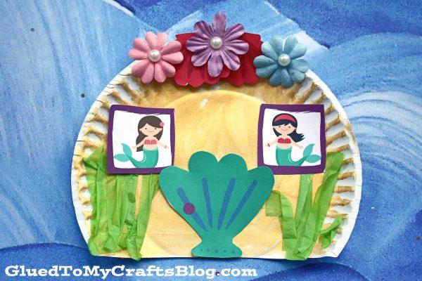 Paper Plate Mermaid House - Kid Craft