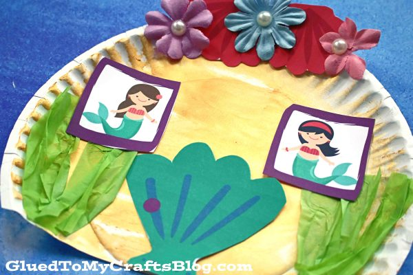 Paper Plate Mermaid House - Kid Craft
