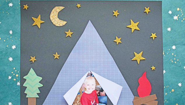 Camping Themed Paper Tent Kid Craft