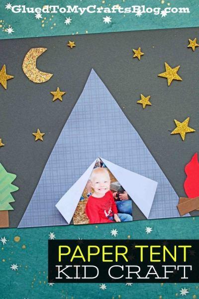 Paper Tent - Camping Kid Craft Idea