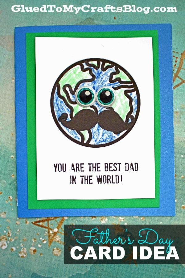 Mustache World's Best Dad Father's Day Card