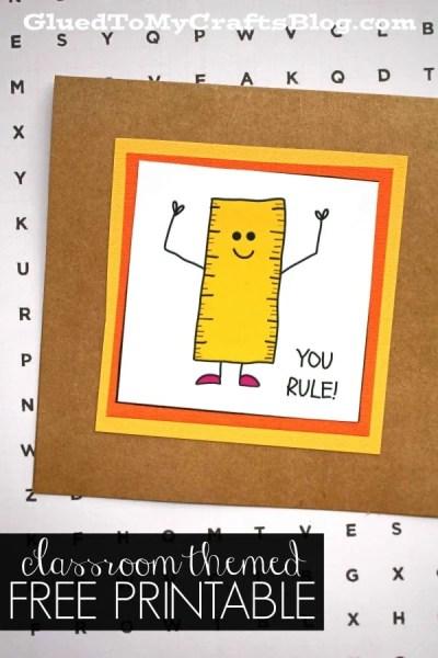 You Rule - Teacher Themed Gift Tag Printable