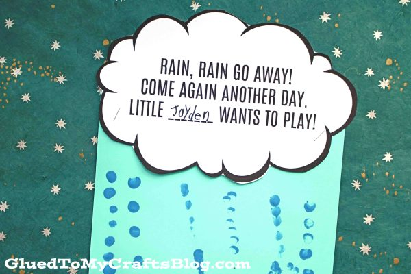 Fingerprint Raindrops - Rain Go Away Craft
