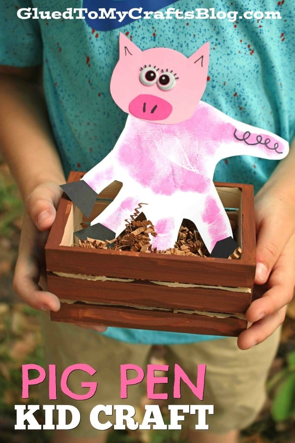 Invitation To Play - Wood Pig Pen Kid Craft