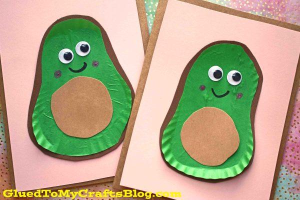 Cupcake Liner Avocado Friend Cards