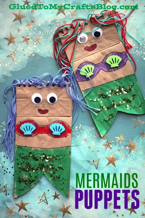 Paper Bag Mermaid Puppet - Kid Craft
