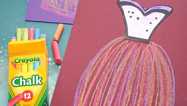 Paper Chalk Art Dress - Kid Craft