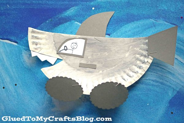 Paper Plate Shark Mobile - Kid Craft