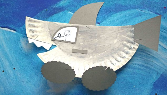 Paper Plate Shark Car - Kid Craft