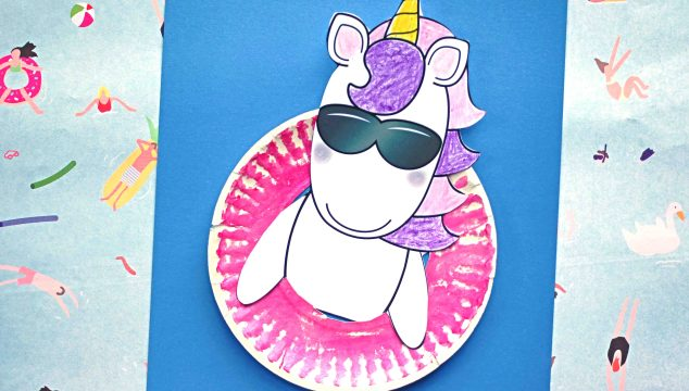 Pool Party Unicorn Friend - Paper Kid Craft