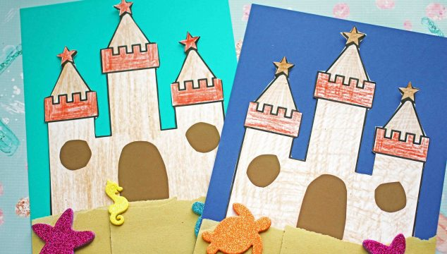 Paper Sand Castle Art Project For Kids