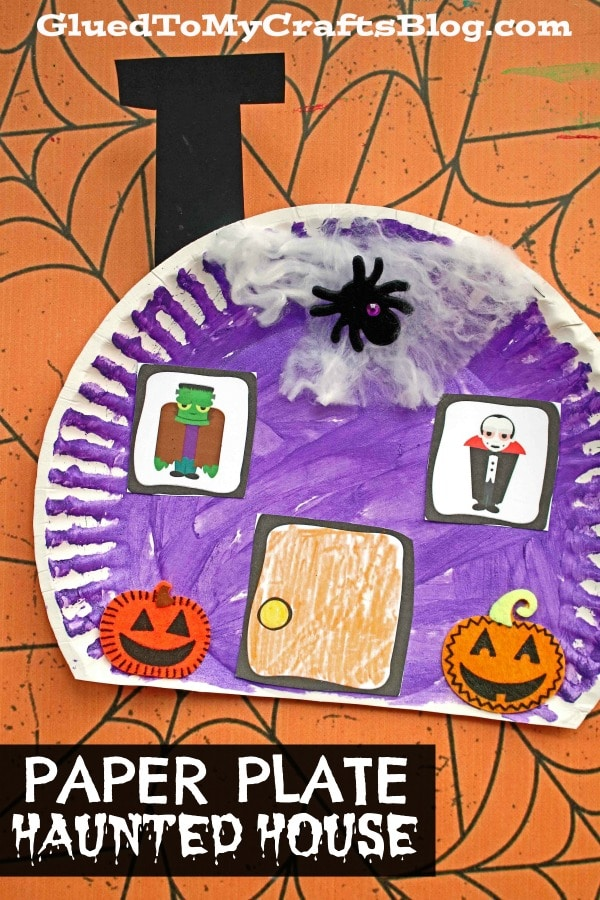 Paper Plate Halloween House - Kid Craft