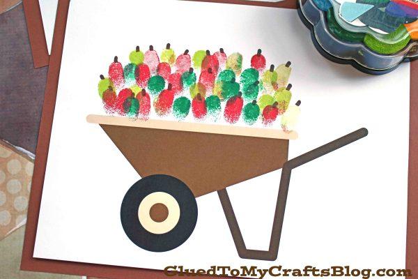Fall Inspired Thumbprint Wheel Barrel - Kid Craft