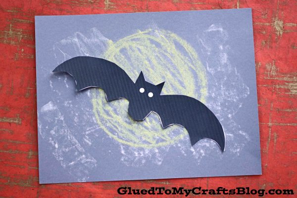 Chalk Art Bat In The Night - Kid Craft