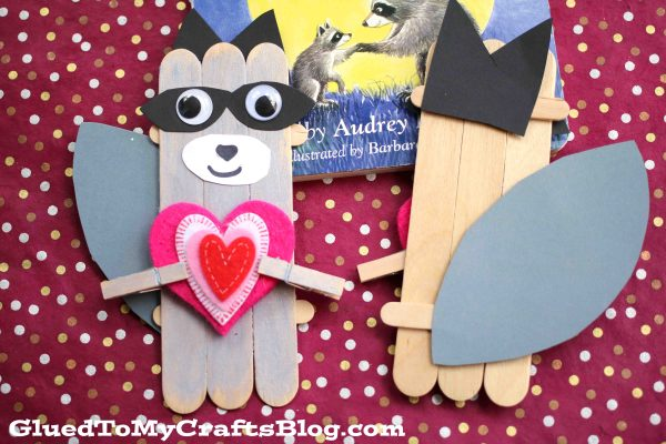 Kissing Hand Raccoon - Kid Craft