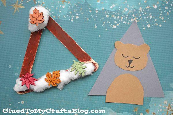 Popsicle Stick Hibernating Bear - Kid Craft