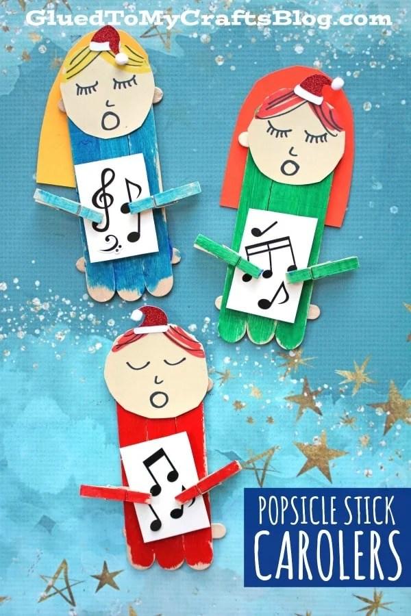Popsicle Stick Christmas Carolers - Kid Craft