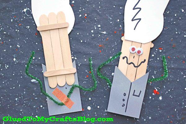 Popsicle Stick Mad Scientist Puppet - Kid Craft