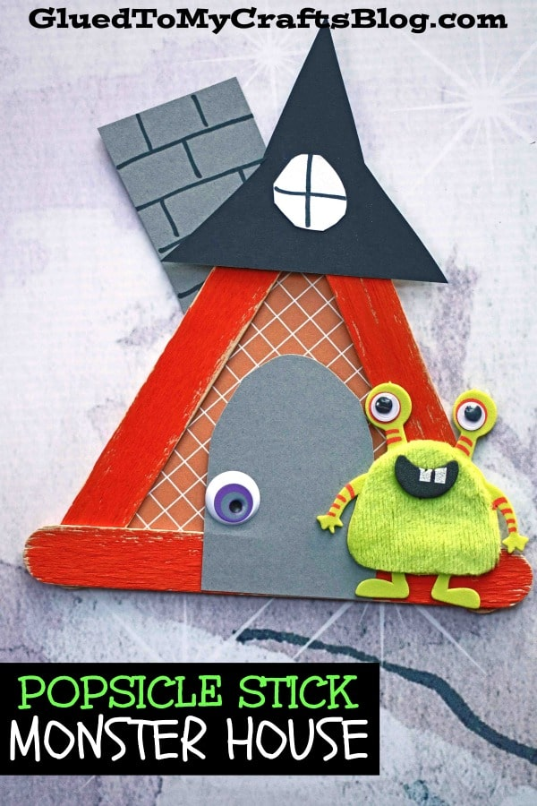 Craft Stick Monster House - Kid Craft