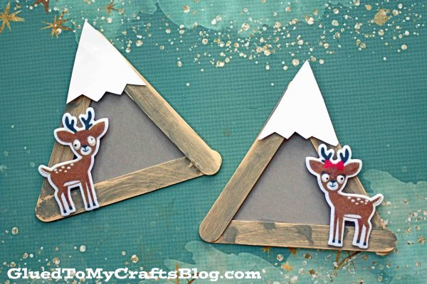 Popsicle Stick Snowy Mountain - Kid Craft
