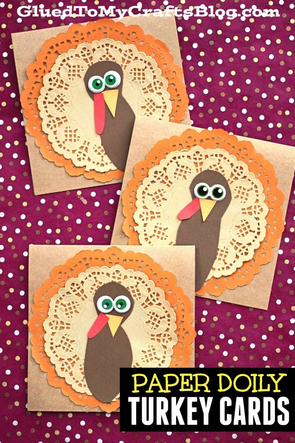 Paper Doily Turkey Cards - Thanksgiving Craft