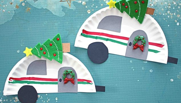 Paper Plate Christmas Camper - Kid Craft