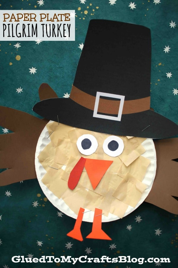 Paper Plate Pilgrim Turkey Kid Craft Glued To My Crafts