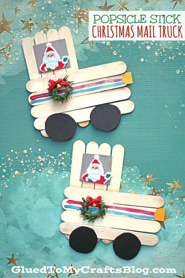 Popsicle Stick Christmas Mail Truck - Kid Craft