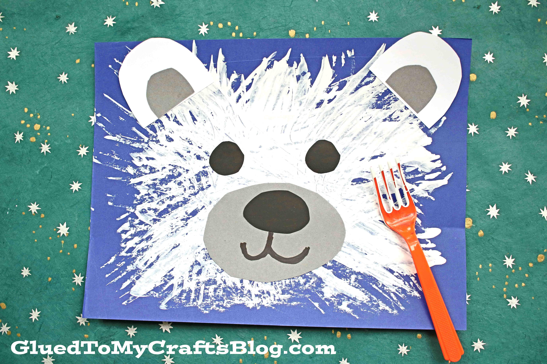 Fork Painted Polar Bear